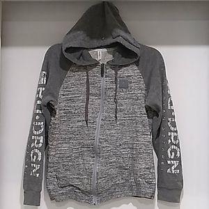Red Dragon Apparel•2 tone grey full zip hoodie